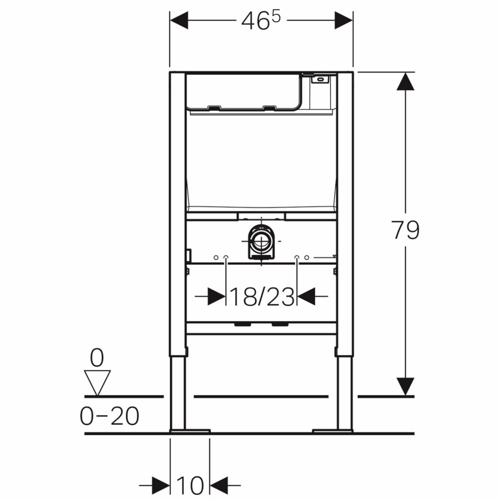 Duofix Frame For Wall Hung Wc 79 Cm With Low Height Furniture